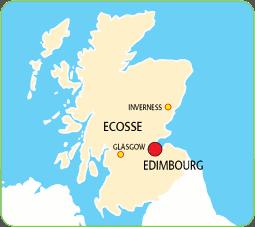 Edimbourg carte ecosse | Arts et Voyages